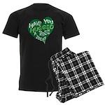 Have You Hugged a Tree Men's Dark Pajamas