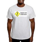 Spondys on the Curve Ash Grey T-Shirt