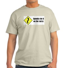 Spondys on the Curve Ash Grey T-Shirt