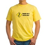 Spondys on the Curve Yellow T-Shirt
