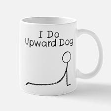 Black Upward Dog Mug