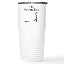 Black Upward Dog Travel Mug