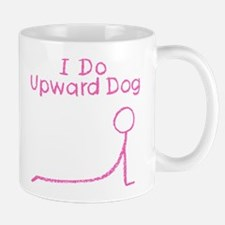 Pink Upward Dog Mug