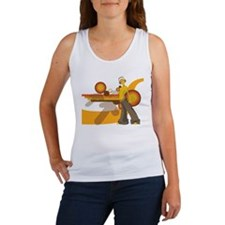 Cute Retro robot Women's Tank Top