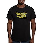 No Worries Men's Fitted T-Shirt (dark)