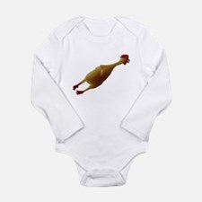 Just a chicken Long Sleeve Infant Bodysuit