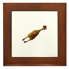 Just a chicken Framed Tile