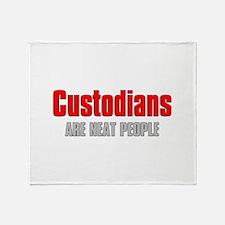 Custodians are Neat People Throw Blanket