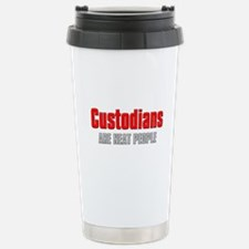 Custodians are Neat People Stainless Steel Travel
