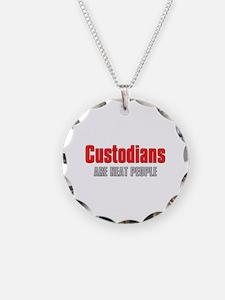 Custodians are Neat People Necklace