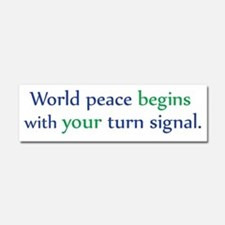 World Peace Car Magnet 10 x 3