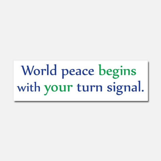World Peace Car Magnet 10 x 3