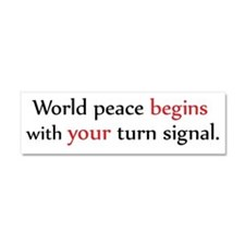 World Peace Turn Signal Car Magnet 10 x 3
