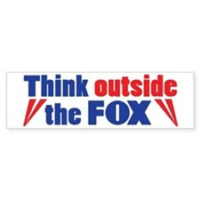 Think Outside the FOX Bumper Bumper Sticker