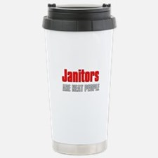 Janitors are Neat People Stainless Steel Travel Mu