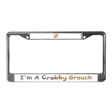 Crabby Grouch License Plate Frame