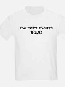 REAL ESTATE TEACHERS Rule! Kids T-Shirt