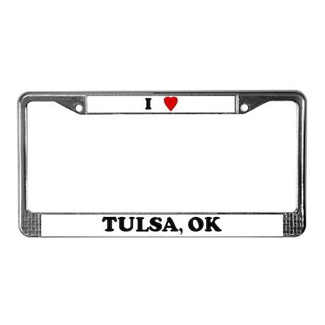 I Love Tulsa License Plate Frame