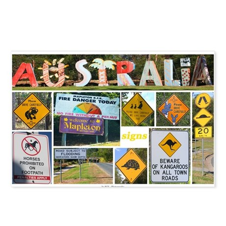 Signs Australia Postcards (Package of 8)