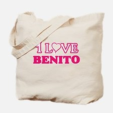 I Love Benito Tote Bag