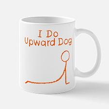 Orange Upward Dog Mug
