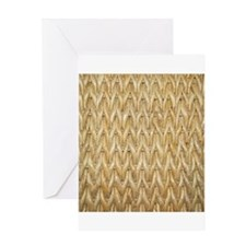 Neutral Woven Raffia Design Greeting Card