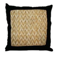 Neutral Woven Raffia Design Throw Pillow