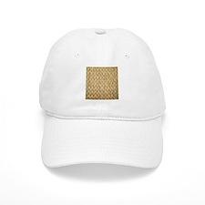 Neutral Woven Raffia Design Baseball Cap