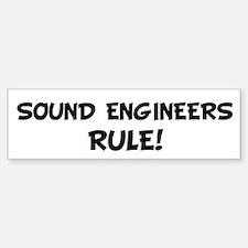 SOUND ENGINEERS Rule! Bumper Car Car Sticker