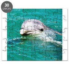 Dolphin in Caribbean Blue Wat Puzzle