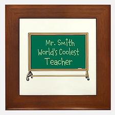 World's Coolest Teacher Framed Tile