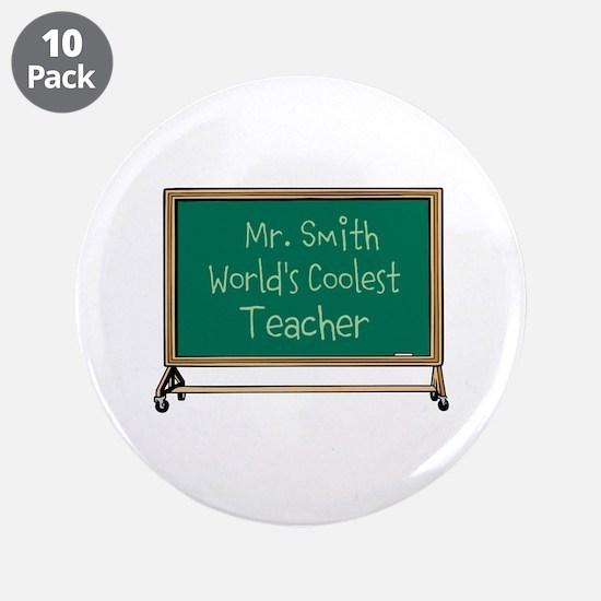 """World's Coolest Teacher 3.5"""" Button (10 pack)"""