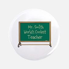 """World's Coolest Teacher 3.5"""" Button (100 pack)"""