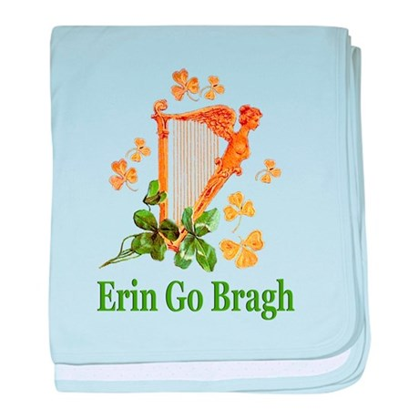 Erin Go Bragh - Golden Irish Harp baby blanket