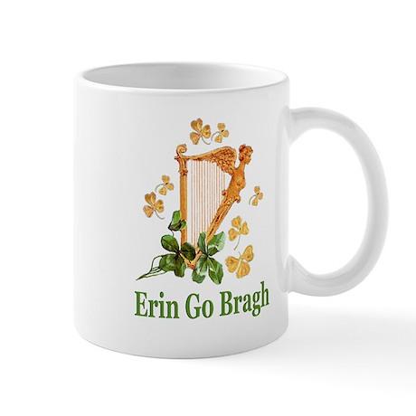 Erin Go Bragh - Golden Irish Harp Mug