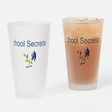 School Secretary Flower Pint Glass