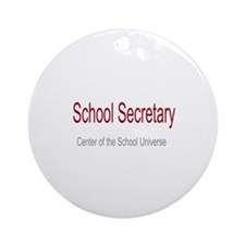 School Secretary School Universe Ornament (Round)