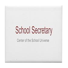 School Secretary School Universe Tile Coaster