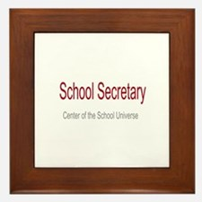 School Secretary School Universe Framed Tile