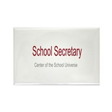 School Secretary School Universe Rectangle Magnet