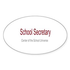 School Secretary School Universe Decal