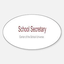 School Secretary School Universe Sticker (Oval)