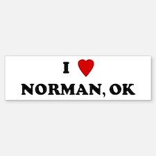 I Love Norman Bumper Bumper Bumper Sticker