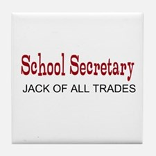 School Secretary Tile Coaster