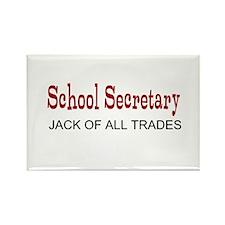 School Secretary Rectangle Magnet (10 pack)
