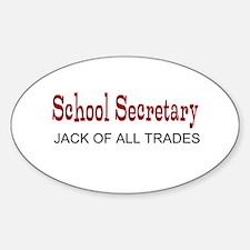School Secretary Decal