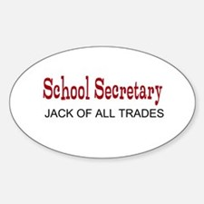 School Secretary Sticker (Oval)