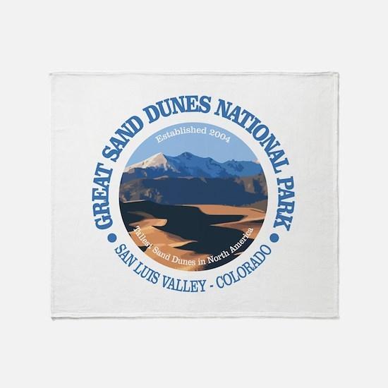Great Sand Dunes NP Throw Blanket