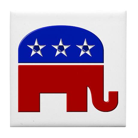 Republican Elephant, Classic Tile Coaster