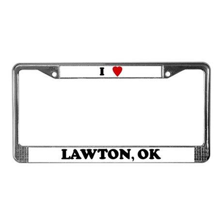 I Love Lawton License Plate Frame